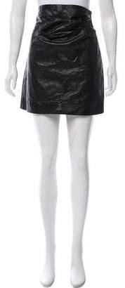 AllSaints Leather Mini Skirt