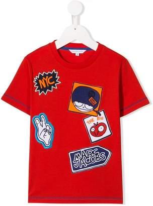 Little Marc Jacobs Mr Marc patch T-shirt