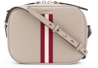Bally striped cross-body bag