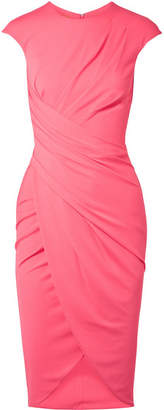 Michael Kors Ruched Stretch-crepe Dress - Bubblegum