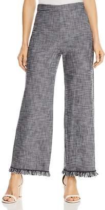 Rebecca Taylor Wide-Leg Tweed Suiting Pants