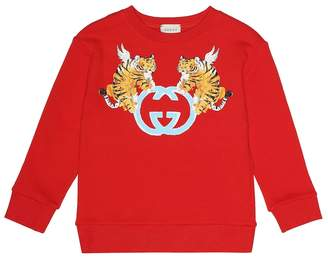 Gucci Kids Printed cotton sweater