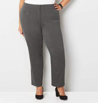 Avenue Plus Size Super Stretch Zip Pocket Trouser