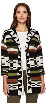Pendleton Women's Desert Stripe Merino Wool Cardigan Sweater