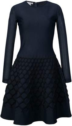 Oscar de la Renta net jacquard knit dress