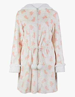 M&S Collection Bunny Print Dressing Gown