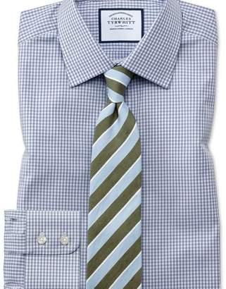 Charles Tyrwhitt Extra slim fit small gingham grey shirt