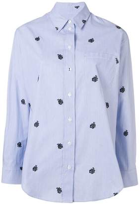 Kenzo rose embroidered shirt