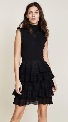 alice + olivia Janice Tiered Ruffle Dress