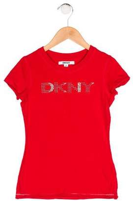 DKNY Girls' Studded Top