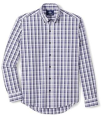 Buttoned Down Men's Slim Fit Supima Cotton Button-Collar Pattern Dress Casual Shirt