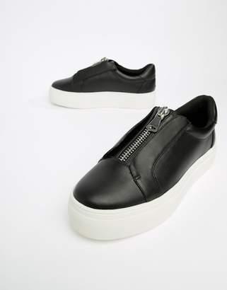 London Rebel Zip Flatform Sneakers