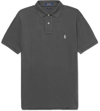 Polo Ralph Lauren Slim-Fit Cotton-Pique Polo Shirt - Dark gray