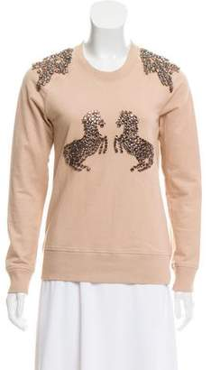 Markus Lupfer Embellished Crew Neck Sweatshirt