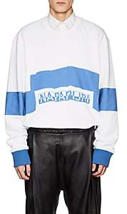 "Martine Rose Napa by Men's ""Napapijri"" Cotton French Terry Sweatshirt-White"