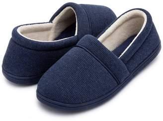 ULTRAIDEAS Women's Velvet Memory Foam Closed Back Slippers Lightweight Anti-Slid Embroidery Ballerina House/Office Shoes (Medium/7-8 B(M) US, )