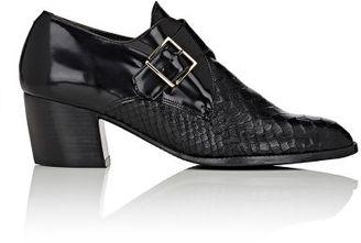 Robert Clergerie Women's Morris Monk-Strap Booties-BLACK $575 thestylecure.com