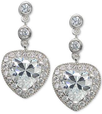 Giani Bernini Cubic Zirconia Heart Drop Earrings