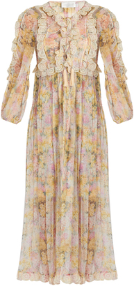 ZIMMERMANN Valour floral-print silk-crepon dress $1,121 thestylecure.com