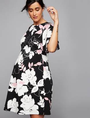 A Pea in the Pod Flutter Sleeve Floral Maternity Dress
