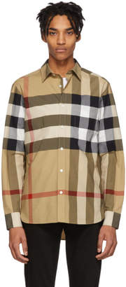 Burberry Beige IP Check Windsor Shirt
