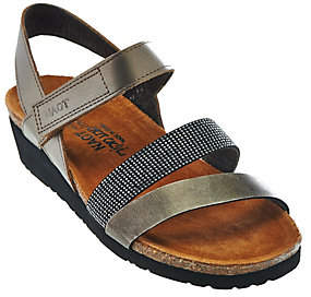 Naot Footwear Leather Cross-strap Sandals with Rivets -Krista