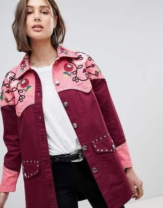 Asos DESIGN Western Embroidered Jacket