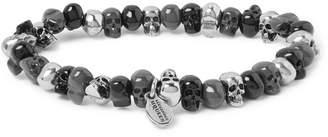 Alexander McQueen Silver-Tone Beaded Bracelet