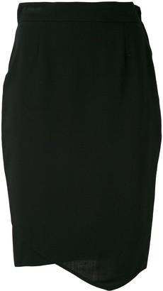 Gianfranco Ferre Pre-Owned asymmetric 1980 skirt