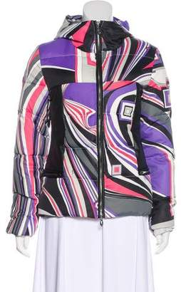 Emilio Pucci Leather-Trimmed Printed Jacket