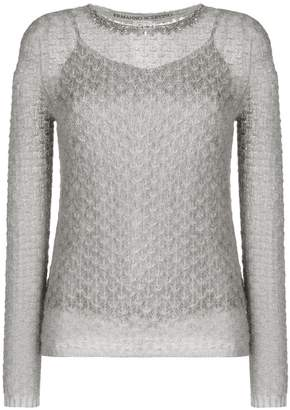 Ermanno Scervino beaded neck jumper