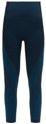 LNDR Launch Crop High Rise Seamless Cropped Leggings - Womens - Emerald