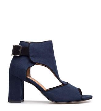 Ganni Nishi Linen Ankle Boot