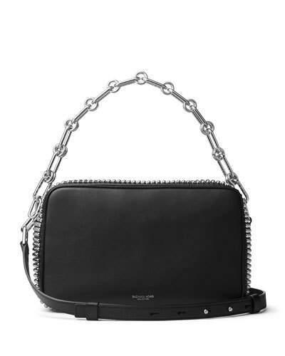 MICHAEL Michael KorsMichael Kors Julie Large Studded Camera Bag, Black