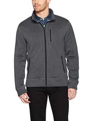 Lucky Brand Men's SHEARLESS Fleece Full Zip Mock Neck Sweatshirt