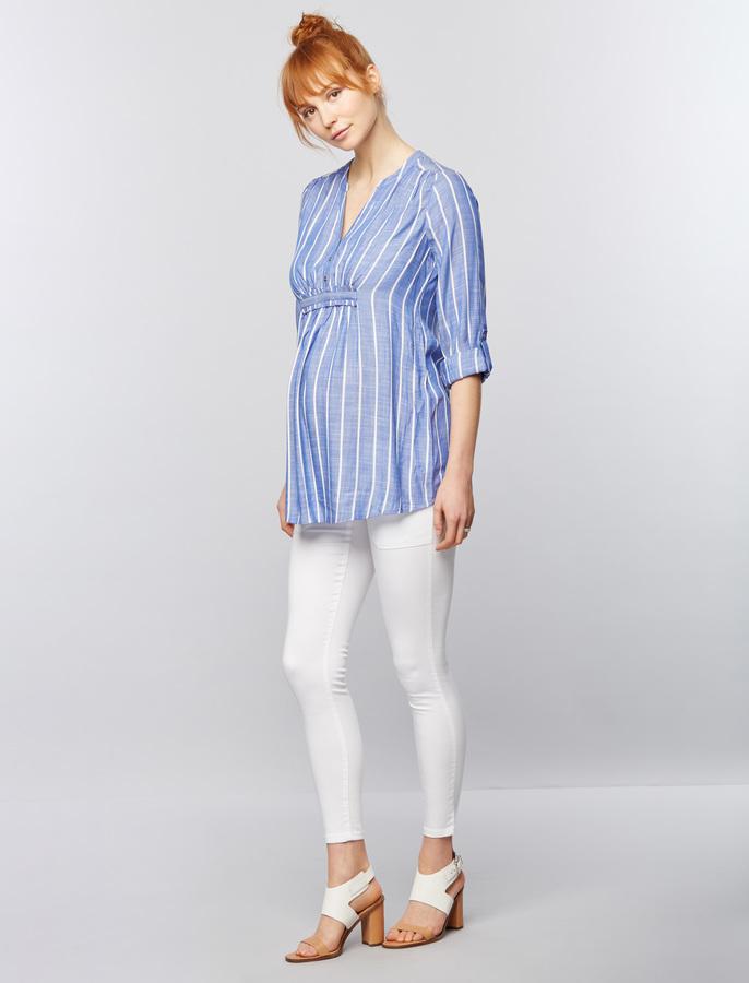 A Pea In The PodLuxe Essentials Denim Addison Maternity Skinny Jeans