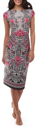 Women's Eci Print Scuba Sheath Dress $88 thestylecure.com