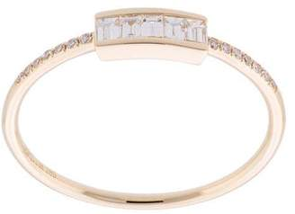 Ef Collection diamond baguette stack ring