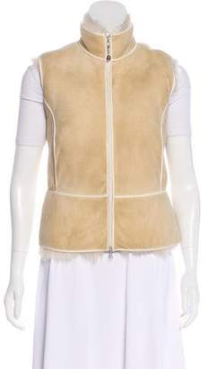 Brunello Cucinelli Point Collar Leather Vest