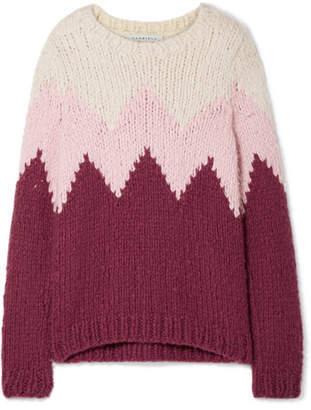 Gabriela Hearst Guillermo Intarsia Cashmere Sweater - Baby pink