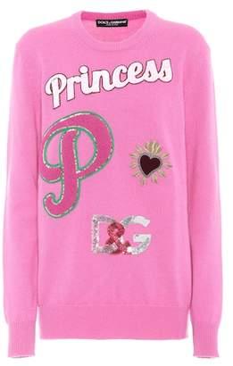 Dolce & Gabbana Embellished cashmere sweater