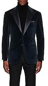 Sartorio Men's PG Paisley Velvet Two-Button Sportcoat-Teal
