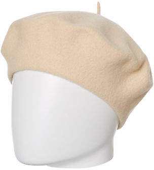 LACK OF COLOR New Women's Beret Wool White