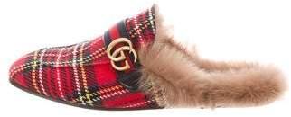 Gucci Princetown Tartan GG Slippers