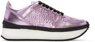Kenzo Pink Metallic Platform Sneakers $430 thestylecure.com
