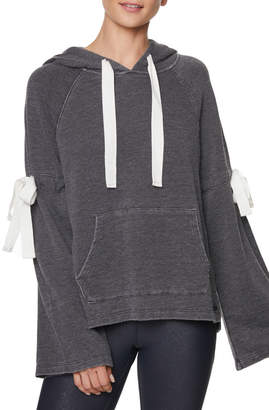 Betsey Johnson Arm Tie Hoodie Pullover