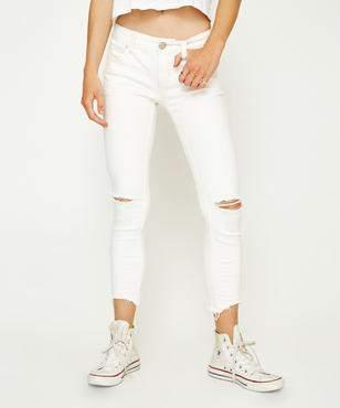 Free People Mid Skinny Destroy Jean