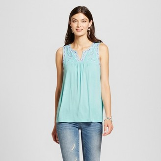 U-knit Women's Embroidered Knit Tank with Contrast Beading $29.99 thestylecure.com