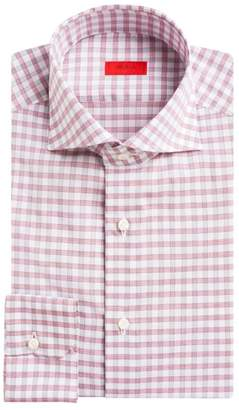 Isaia Contemporary-Fit Gingham Dress Shirt