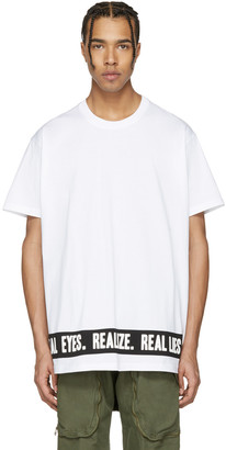 Givenchy White 'Real Eyes' T-Shirt $535 thestylecure.com